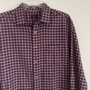 UNTUCKit Button Down Flannel Plaided LS Shirt